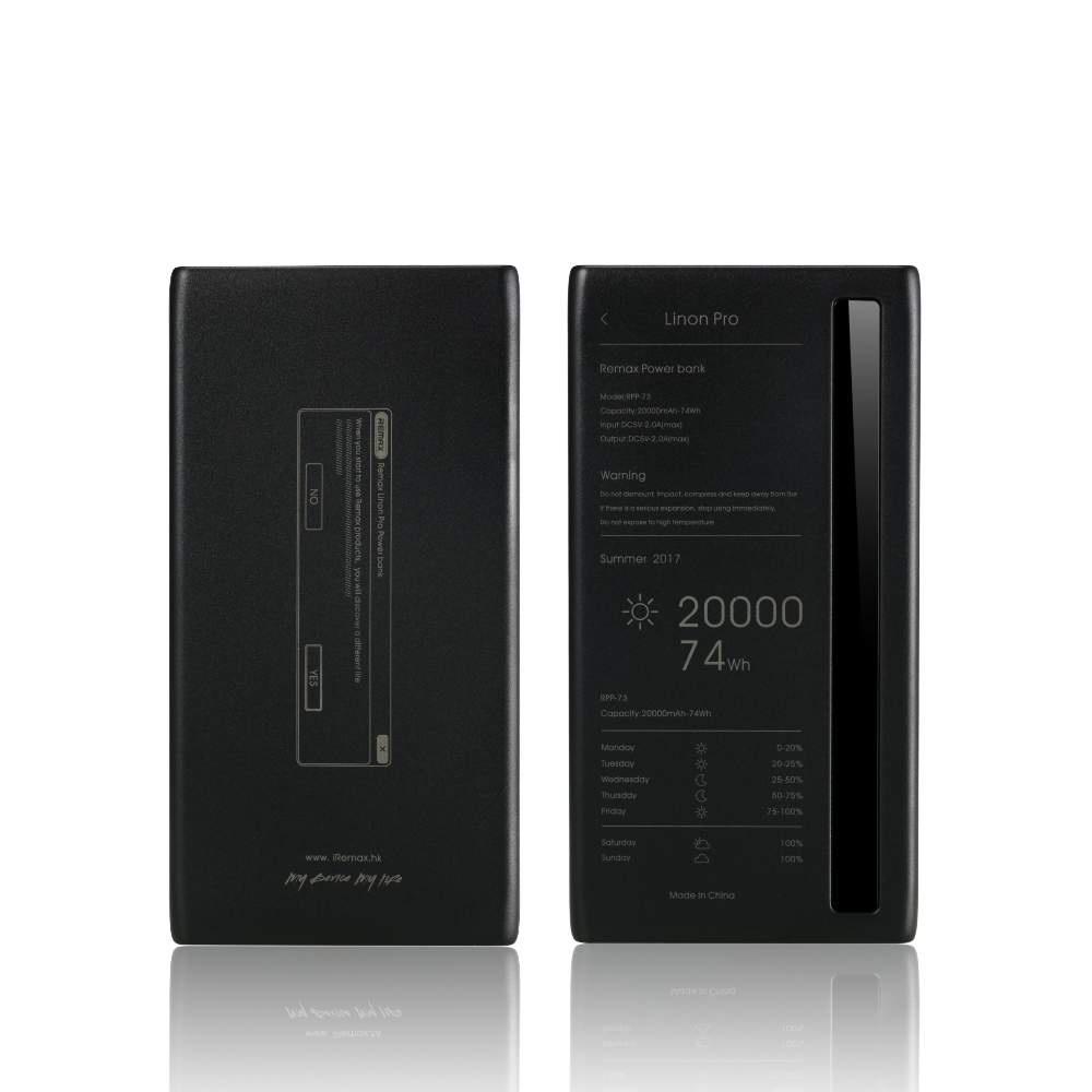 Фото - Внешний аккумулятор REMAX RPP-73, черный аккумулятор