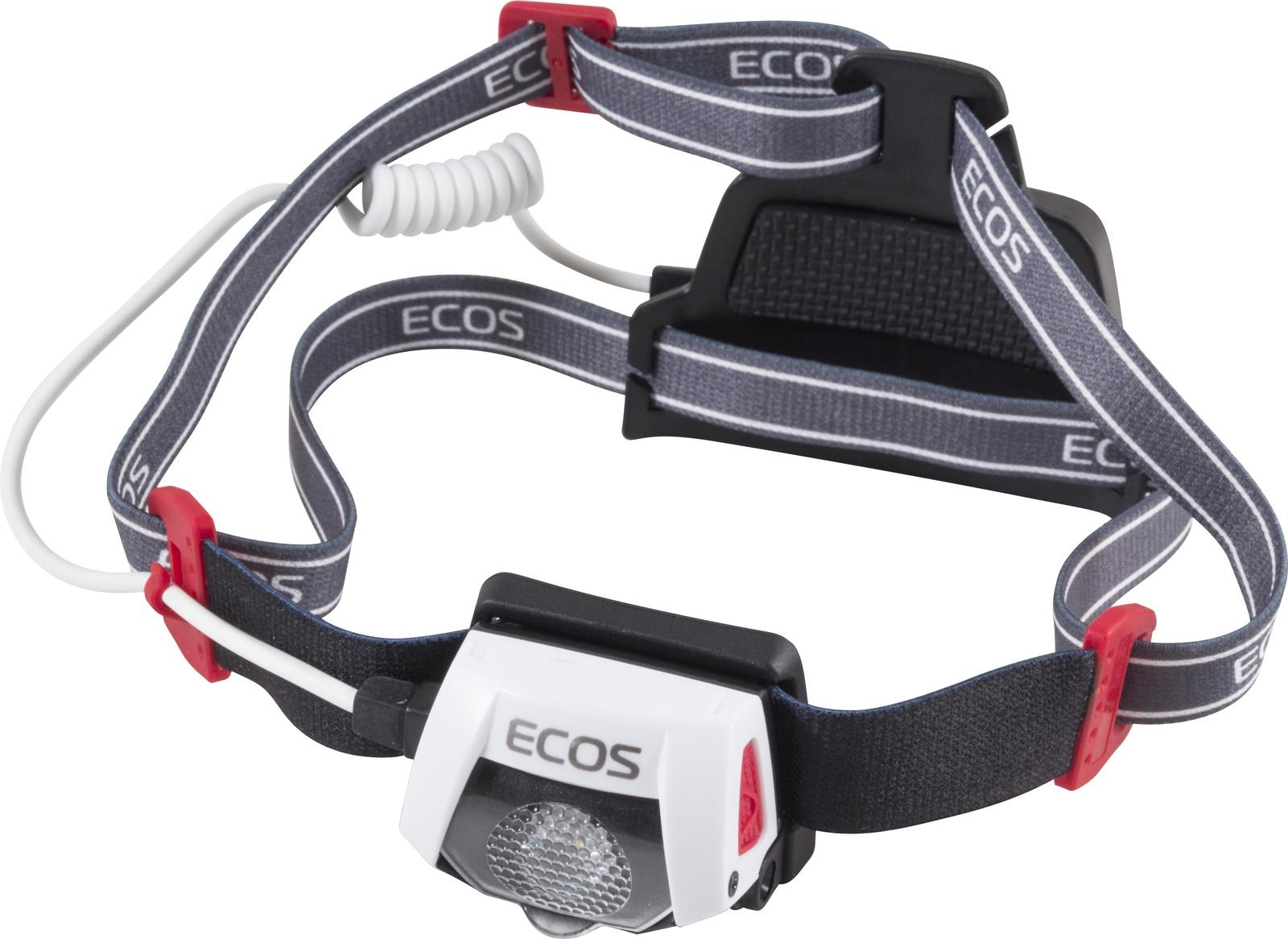 Налобный фонарь Ecos FLHC6012, белый, черный налобный фонарь ecos flhb6008 белый черный