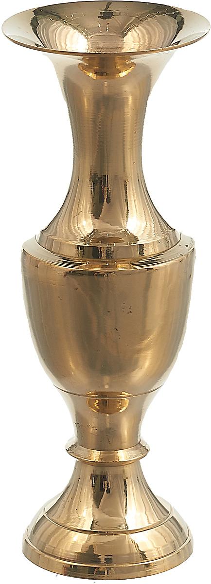 Ваза Lefard, 877-458, золотистый, 5 х 5 х 14 см ваза lefard 112 431 золотистый 21 х 12 х 34 5 см