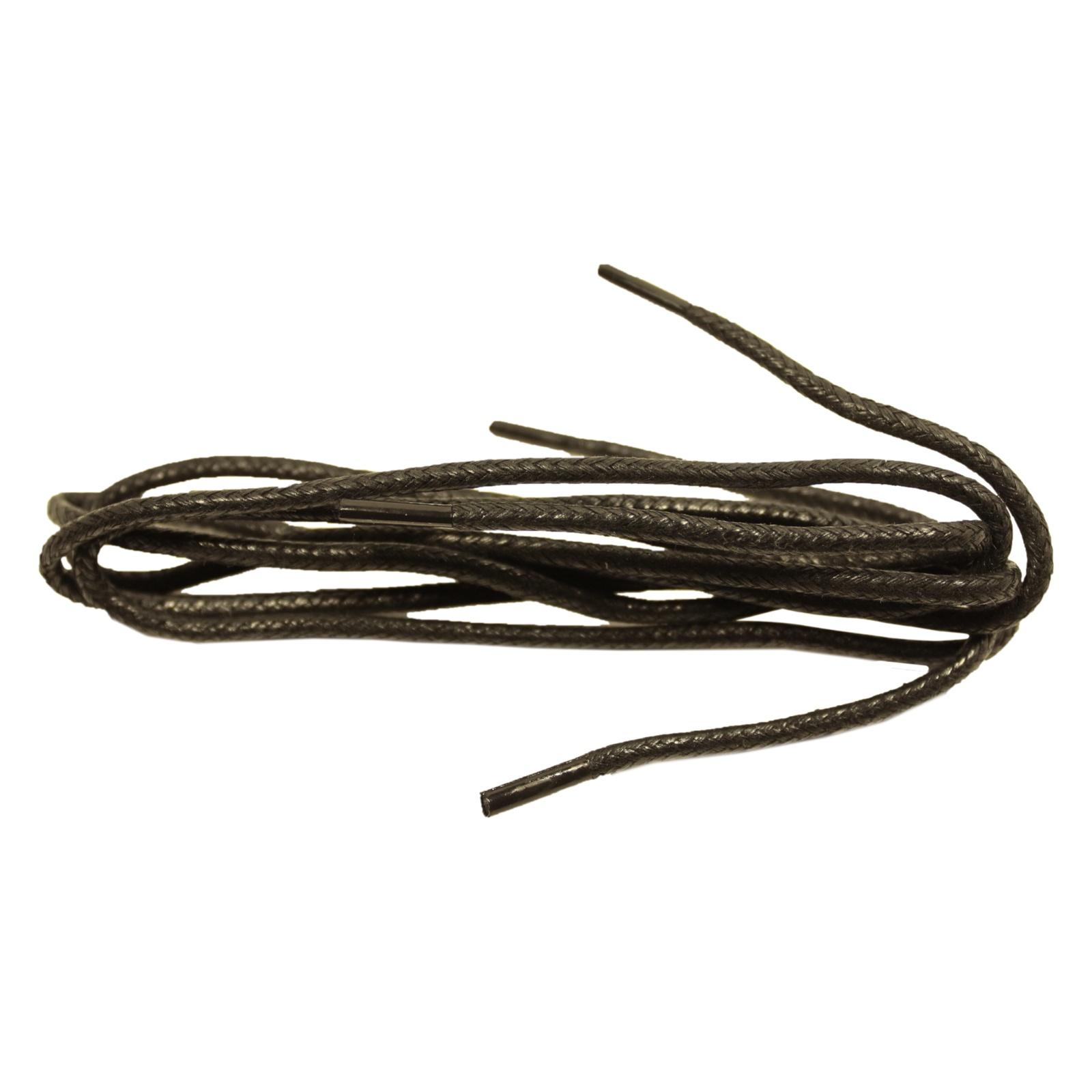 Шнурки Шнурком хлопковые вощеные круглые 2,5мм 60см, черный шнурки для обуви радуга active усиленные круглые с наполнителем цвет белый 110 см