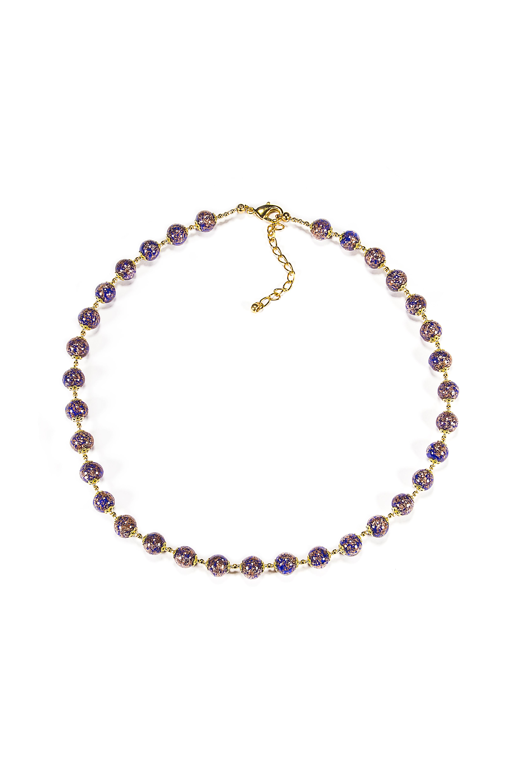 Колье/ожерелье бижутерное Боттега Мурано 09010170 242, 42+7 см, синий цена