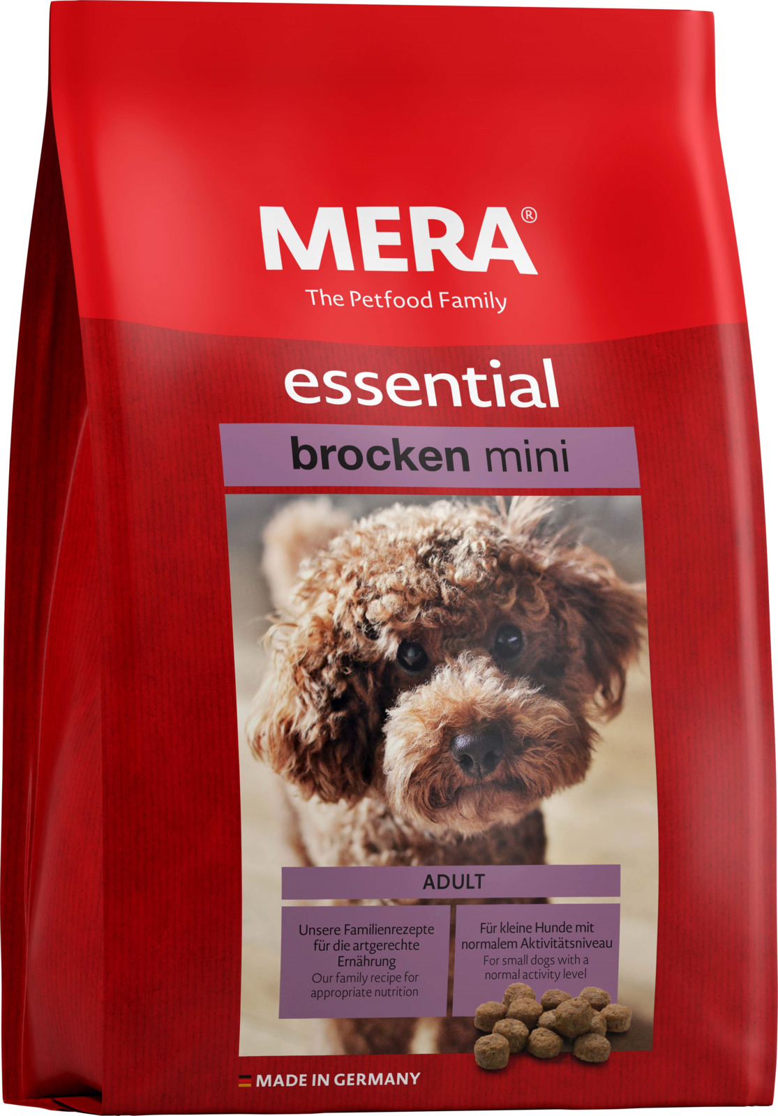 Корм сухой MERA Essential Brocken MINI, для собак мелких пород, 1 кг