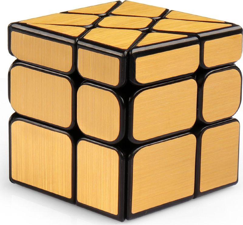 Головоломка PlayLab Зеркальный Кубик Колесо, MC581-5.7H-1, золотистый