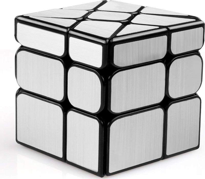 Головоломка PlayLab Зеркальный Кубик Колесо, MC581-5.7H, серебристый