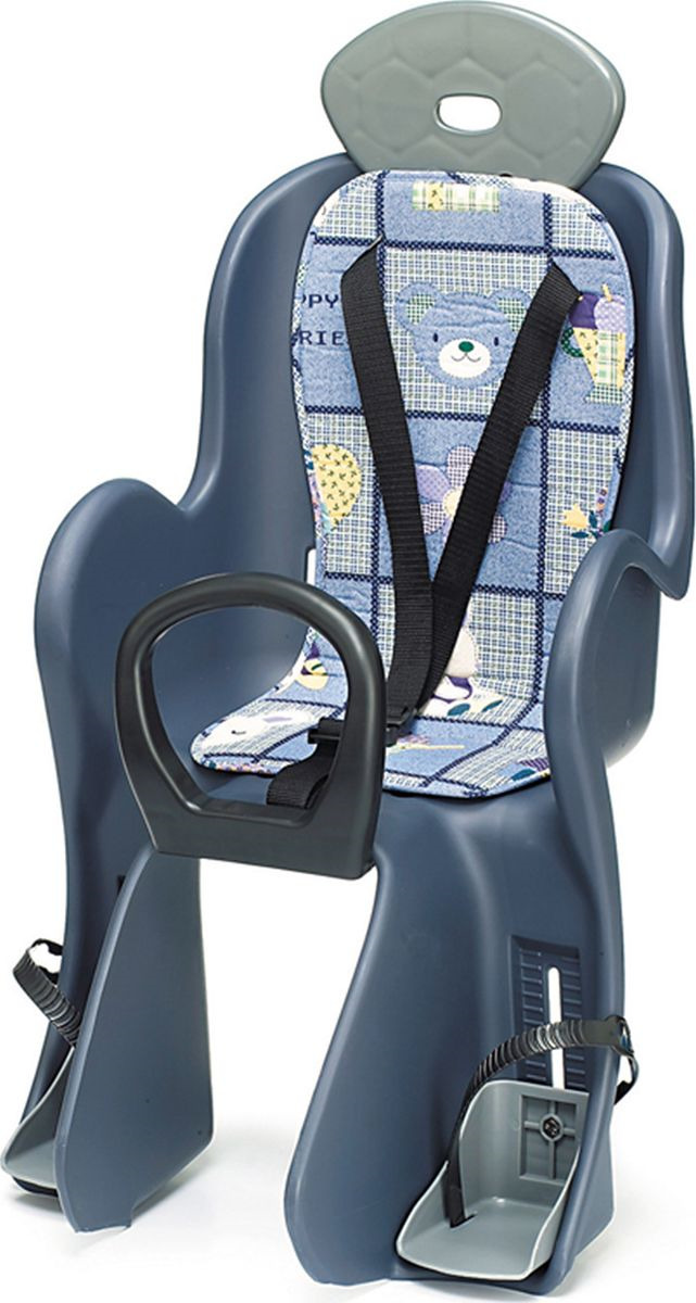 Велокресло детское Shenga Fa, на задний багажник, 801-YC, синий, серый