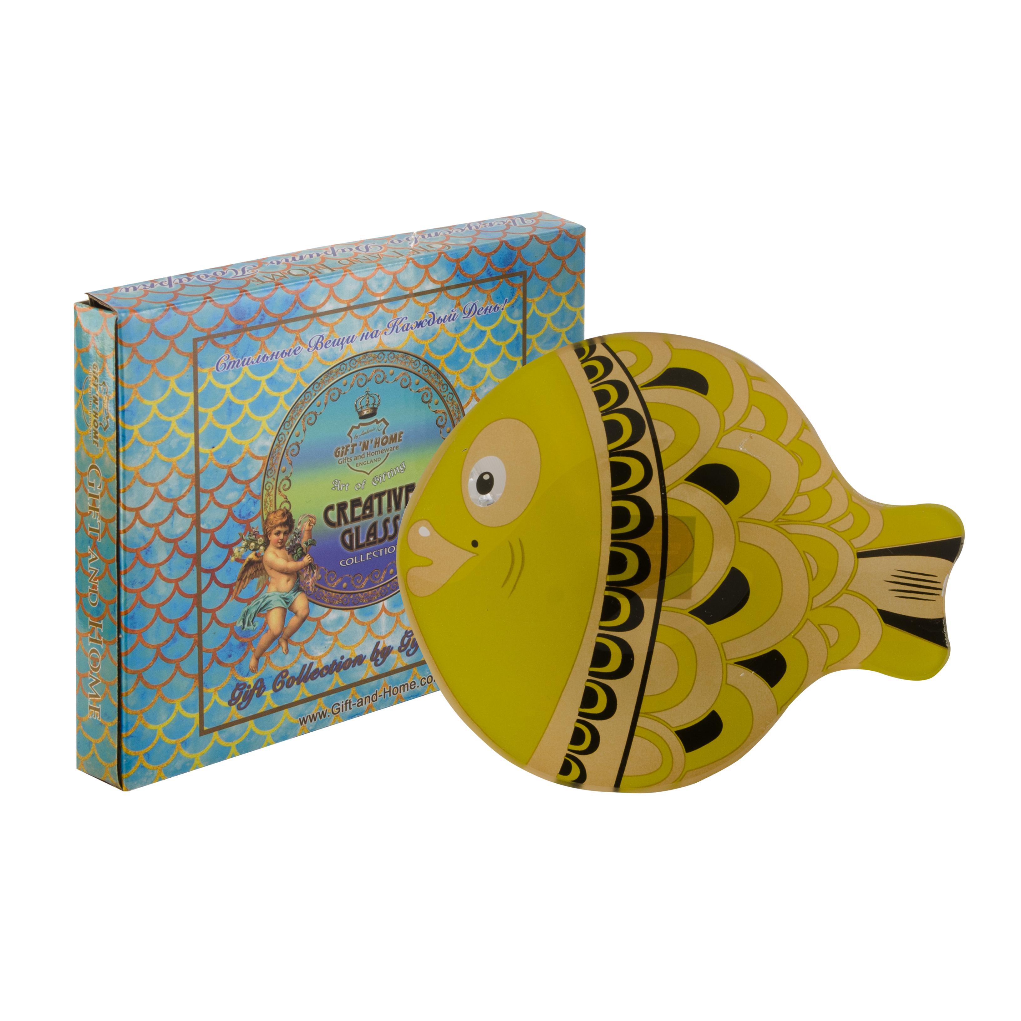 Тарелка десертная Gift'n'home Золотая рыбка