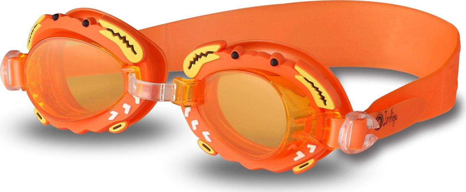 Очки для плавания детские Indigo Крабик, 1771 G, оранжевый