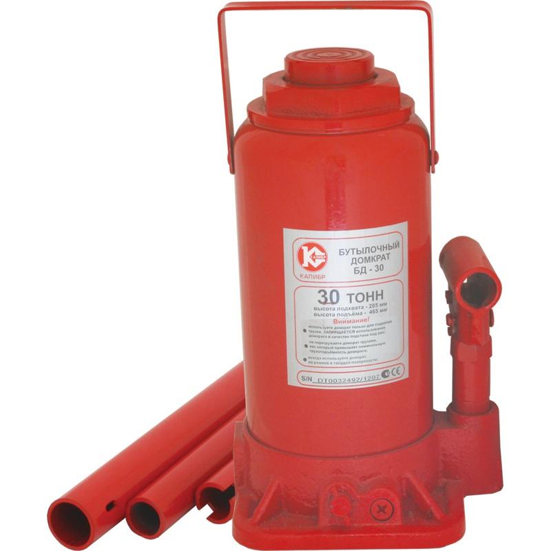 Бутылочный домкрат Калибр БД-30, красный
