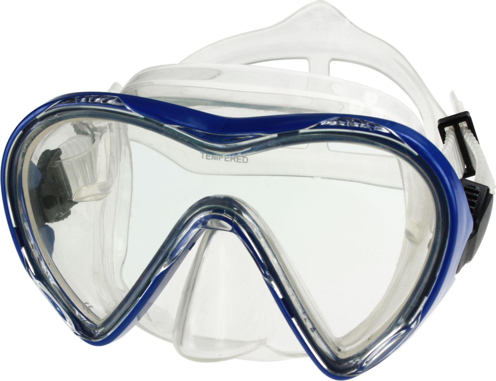 Маска для плавания Indigo, М 116, голубой недорго, оригинальная цена