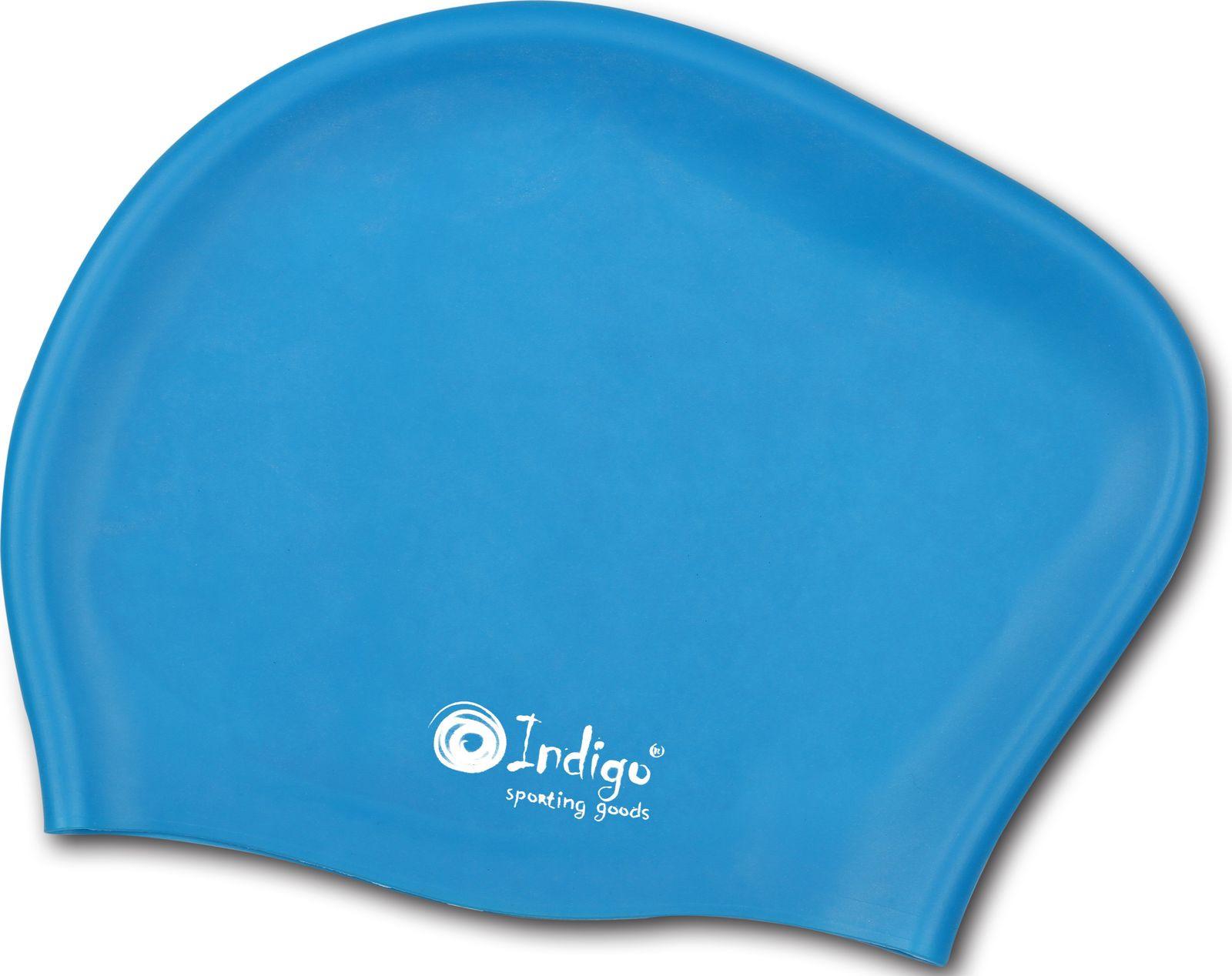 Шапочка для плавания Indigo, 808 SC, голубой808 SCШапочка для бассейна Indigo Silicone предназначена для пловцов с длинными волосами, плотно облегает голову, подходит для спортивного плавания. Шапочка защищает волосы от намокания, позволяя волосам оставаться относительно сухими. Волосы, убранные под плавательную шапочку, не лезут в глаза и не отвлекают от тренировок. Очень важно, что эти плавательные шапочки гипоаллергенные - не могут вызвать аллергию. Еще один несравнимый плюс - силиконовые плавательные шапочки являются очень эластичными, легче одеваются и не доставляют практически никаких неудобств. Рассчитана на долгий срок службы.