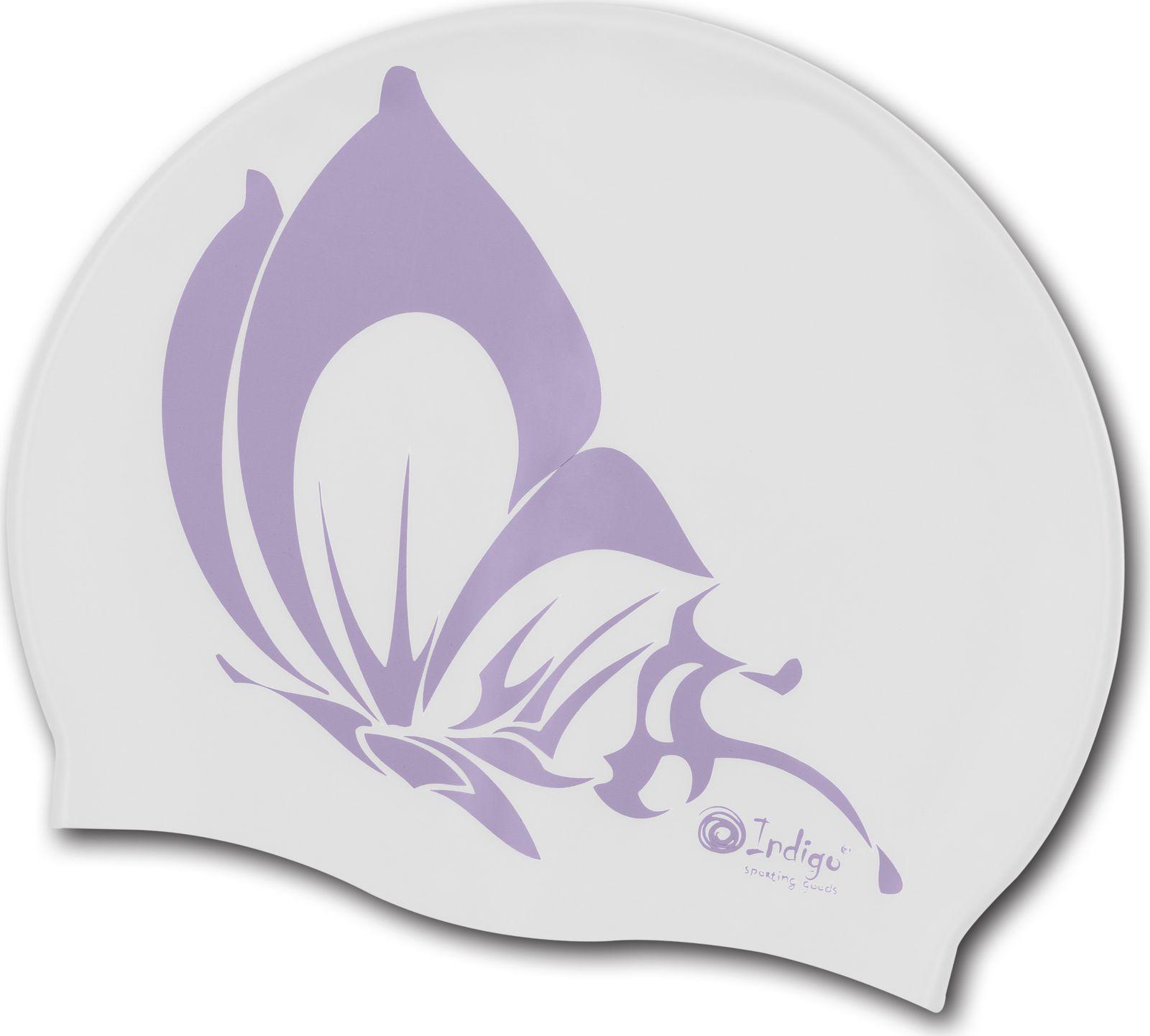 шапочки и чепчики Шапочка для плавания Indigo Бабочка, SCBT109, белый