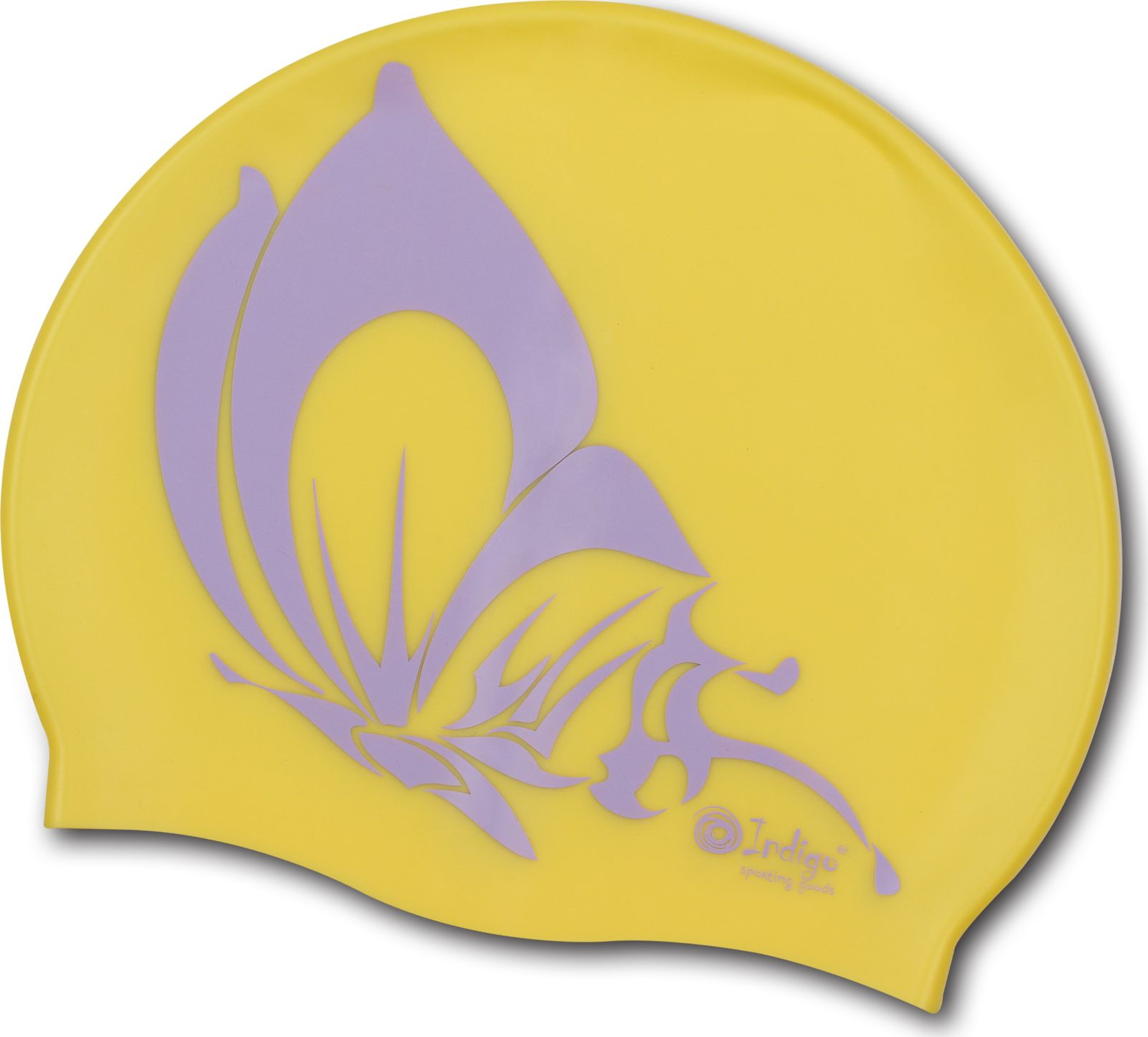 шапочки и чепчики Шапочка для плавания Indigo Бабочка, SCBT106, желтый