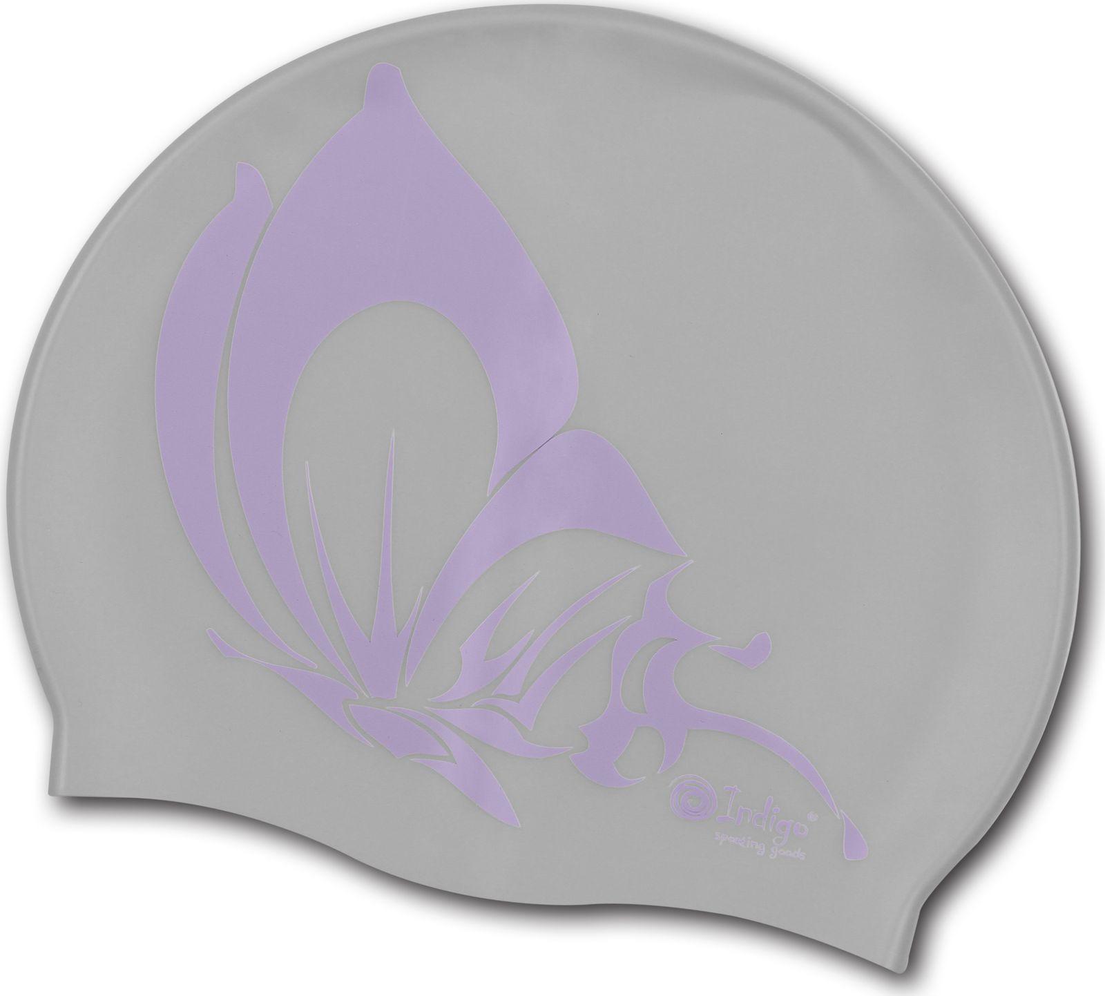 Шапочка для плавания Indigo Бабочка, SCBT101, серыйSCBT101Шапочка для плавания защищает волосы от намокания, позволяя волосам оставаться относительно сухими Волосы, убранные под плавательную шапочку, не лезут в глаза и не отвлекают от тренировок В данной модели шапочки для бассейна с рисунком в виде Бабочки удобство, простота и комфорт сочетаются в одном целом Силиконовые шапочки для бассейна наиболее распространенный вариант, имеющий множество достоинств Очень важно, что эти плавательные шапочки не могут вызвать аллергию Еще один несравнимый плюс - силиконовые плавательные шапочки являются очень эластичными, легче одеваются и не доставляют практически никаких неудобств Рассчитана на долгий срок службы.