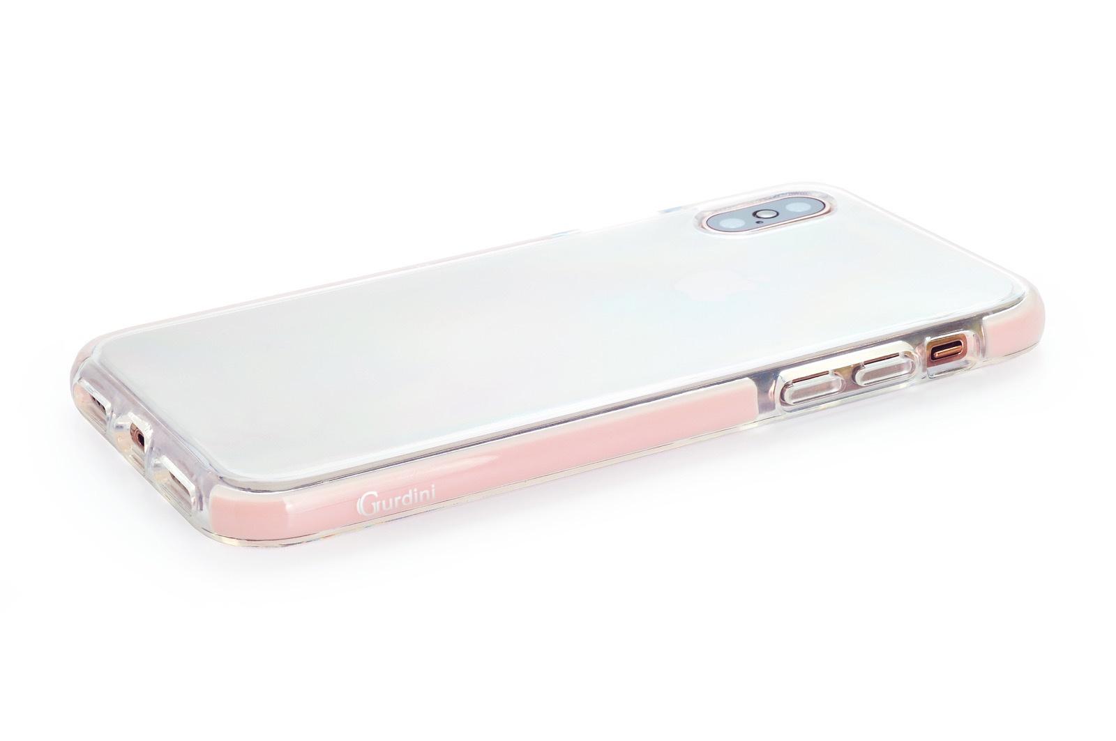 """Чехол для сотового телефона Gurdini Crystal Ice 906713 силикон противоударный для Apple iPhone XS Max 6.5"""", розовый"""