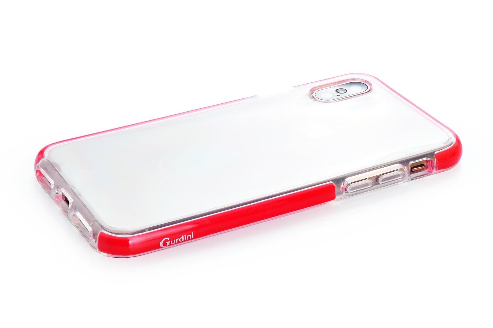 """Чехол для сотового телефона Gurdini Crystal Ice 908073 силикон противоударный для Apple iPhone XS Max 6.5"""", красный"""