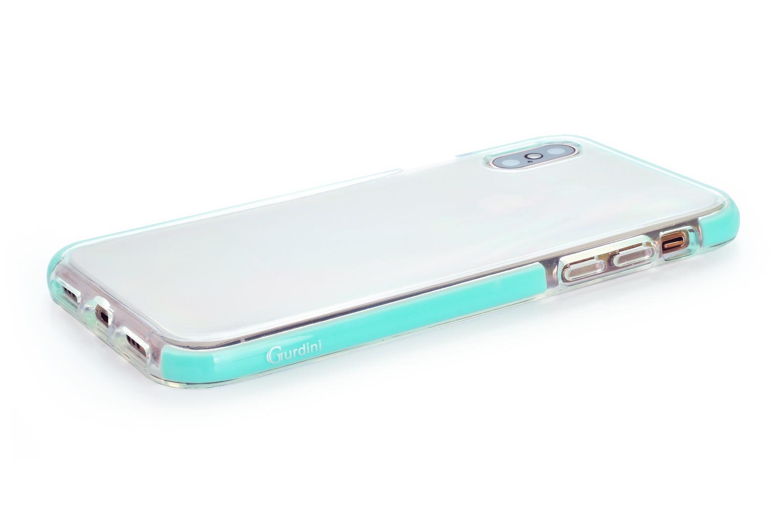 """Чехол для сотового телефона Gurdini Crystal Ice 906714 силикон противоударный для Apple iPhone XS Max 6.5"""", светло-зеленый"""