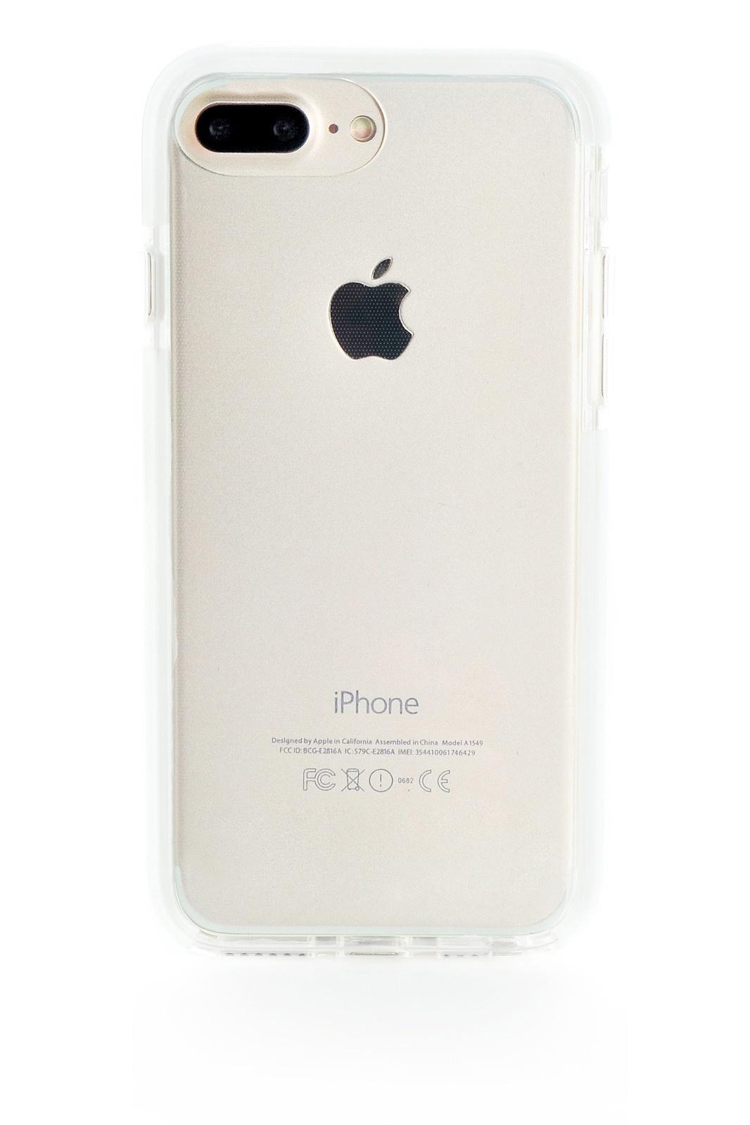 "Чехол для сотового телефона Gurdini Crystal Ice 905653 силикон противоударный для Apple iPhone 6 Plus/7 Plus/8 Plus 5.5"", белый"
