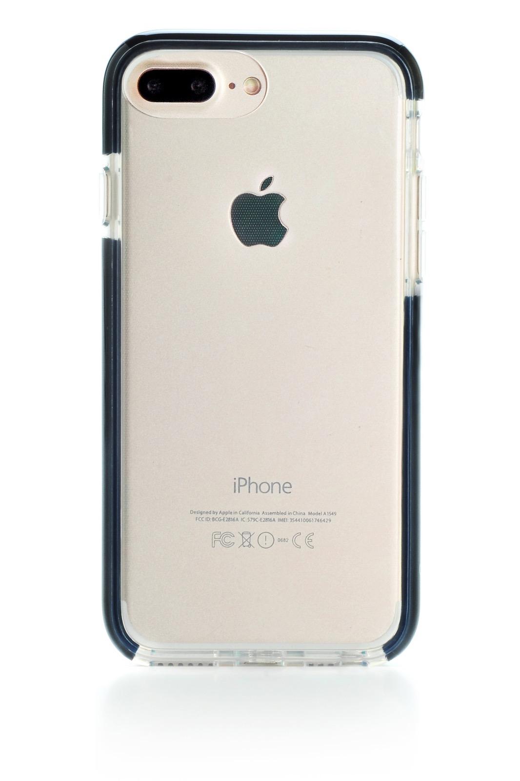 """Чехол для сотового телефона Gurdini Crystal Ice 905650 силикон противоударный для Apple iPhone 6 Plus/7 Plus/8 Plus 5.5"""", черный"""