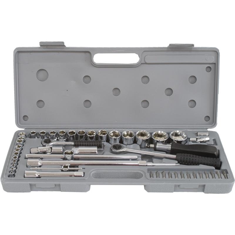 Набор инструментов Калибр АН-52, серый набор инструментов калибр ан 52 серый