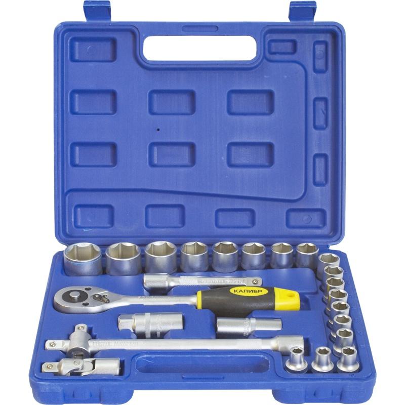 Набор инструментов Калибр НСМ-24, синий набор инструментов калибр ан 52 серый