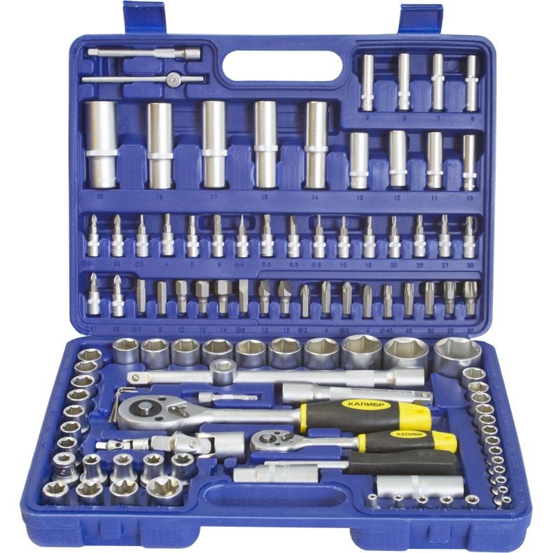 Набор инструментов Калибр НСМ-108, синий набор инструментов калибр ан 52 серый