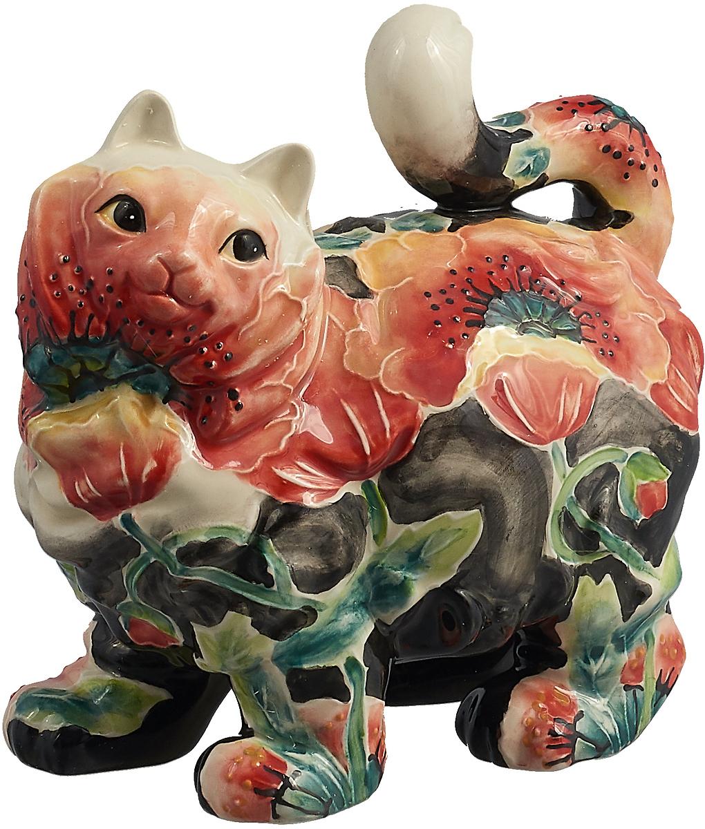 Фигурка декоративная Lefard Кошка, 59-631, белый, 15 х 16 х 10 см