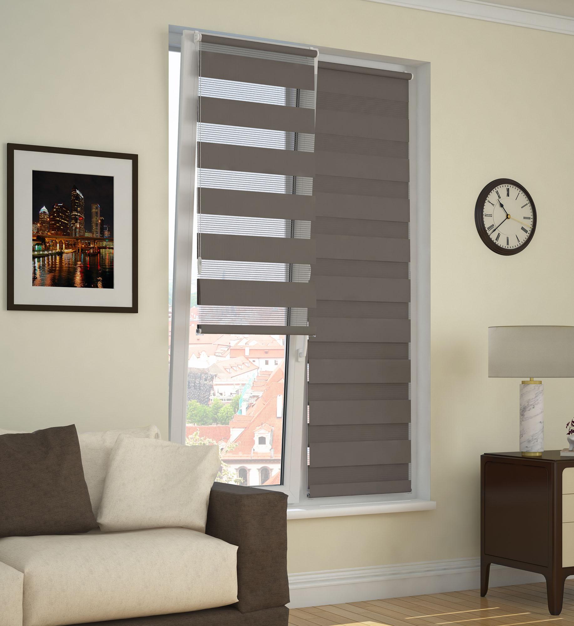 Фото - Рулонные шторы DDA 71083, коричневый рулонные шторы dda прованс принт 48x170 см