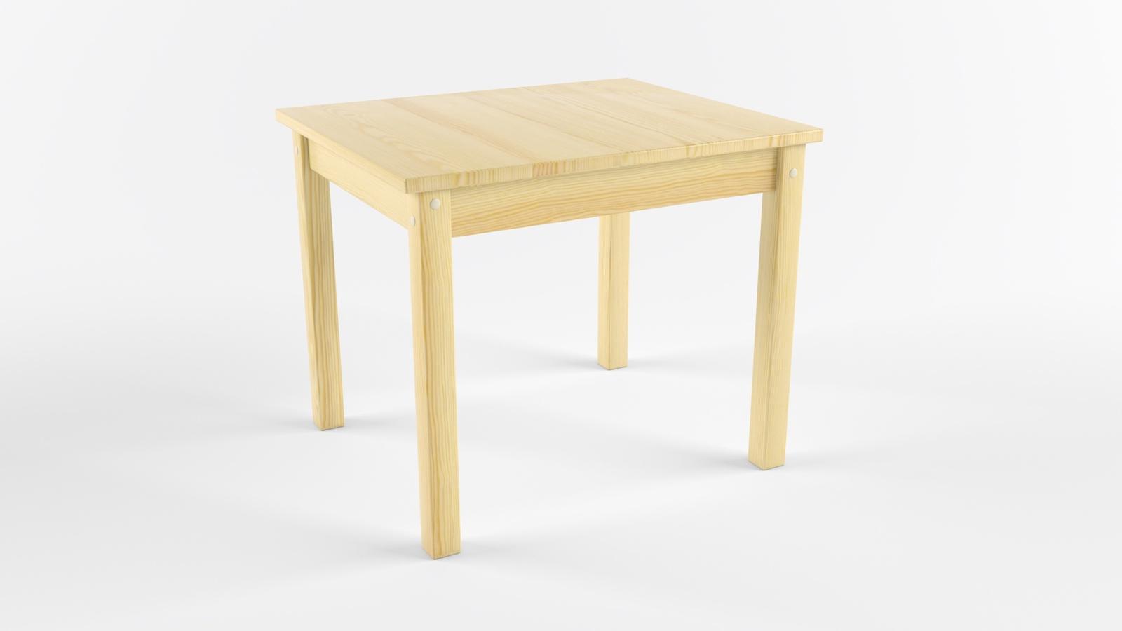 Детский стол Русские Игрушки Детский деревянный «Стол» сосна (не окрашен), светло-бежевый, светло-коричневый, белый