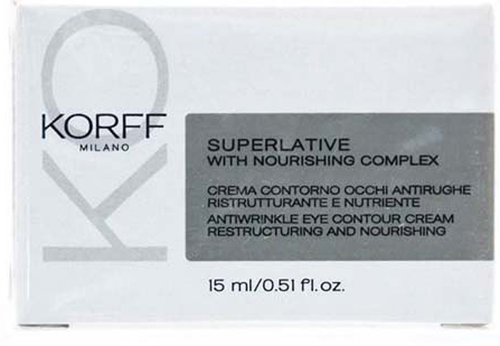 Крем против морщин для контура глаз Korff Суперлайтив, 15 мл сыворотка эликсир против морщин korff суперлайтив 15 мл