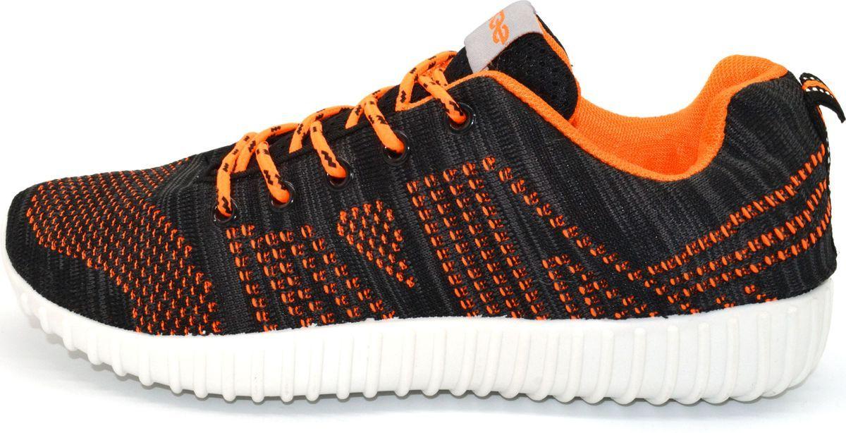 Кроссовки женские Evashoes, цвет: черный, оранжевый. SKS-39-1. Размер 38SKS-39-1Модель выполнена из высококачественного текстиля, подошва из поливинилхлорида, что обеспечивает износостойкость. Тип застежки - шнурок.