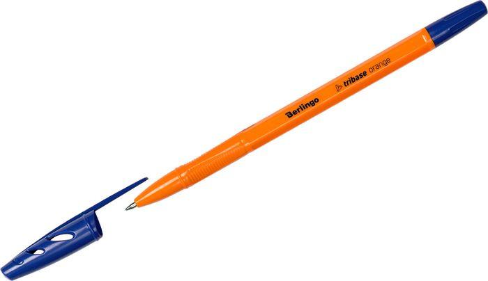 Набор шариковых ручек Berlingo Tribase Orange, 265891, цвет чернил синий, 50 шт набор ручек berlingo f 10 автоматических шариковых 4шт синие 0 7мм