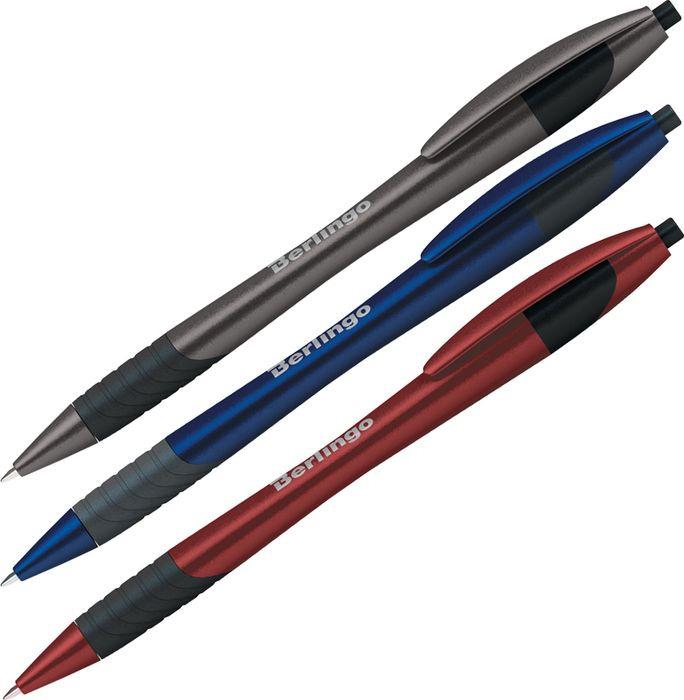 Набор шариковых ручек Berlingo Metallic XL, 206163, цвет чернил синий, 12 шт набор ручек berlingo f 10 автоматических шариковых 4шт синие 0 7мм