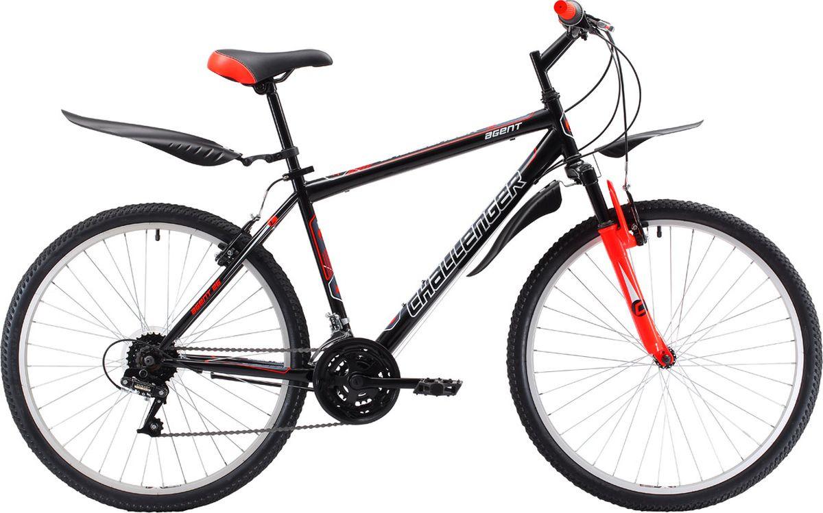 Велосипед горный Challenger Agent Lux 26, 8712003000, черный, красный, рама 20, колесо 26