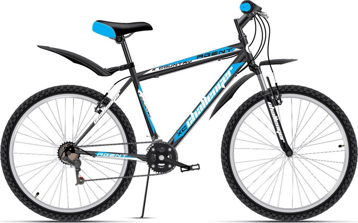 Велосипед горный Challenger Agent, 8712003000, черный, синий, рама 18, колесо 26