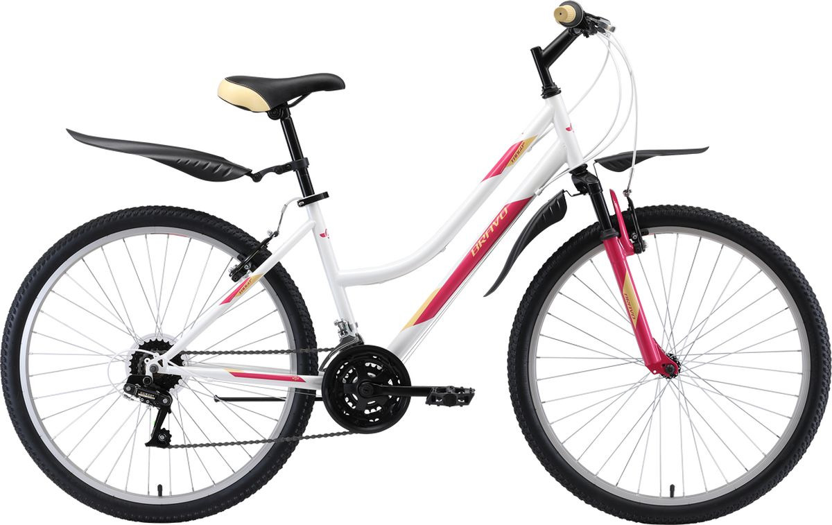 цена на Велосипед горный Bravo Tango 26, 8712003000, белый, розовый, рама 18, колесо 26