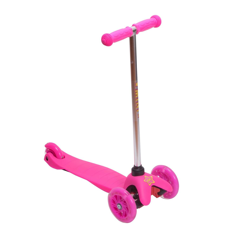 Самокат RGX MINI LED pink, розовый самокат rgx mini led pink розовый