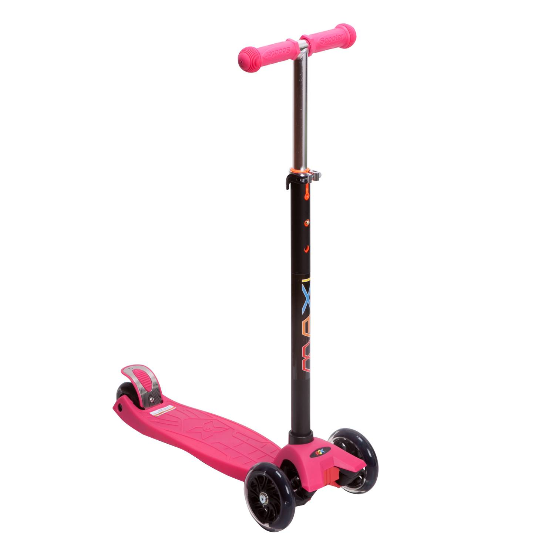 Самокат RGX MAXI LED pink, розовый самокат rgx mini led pink розовый