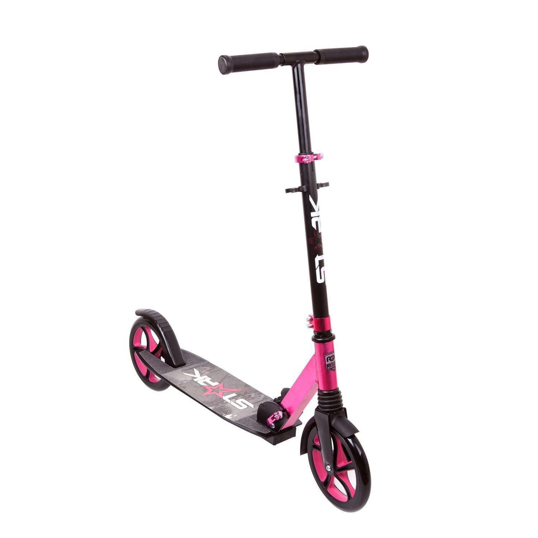 Самокат RGX STARK pink, розовый самокат rgx mini led pink розовый