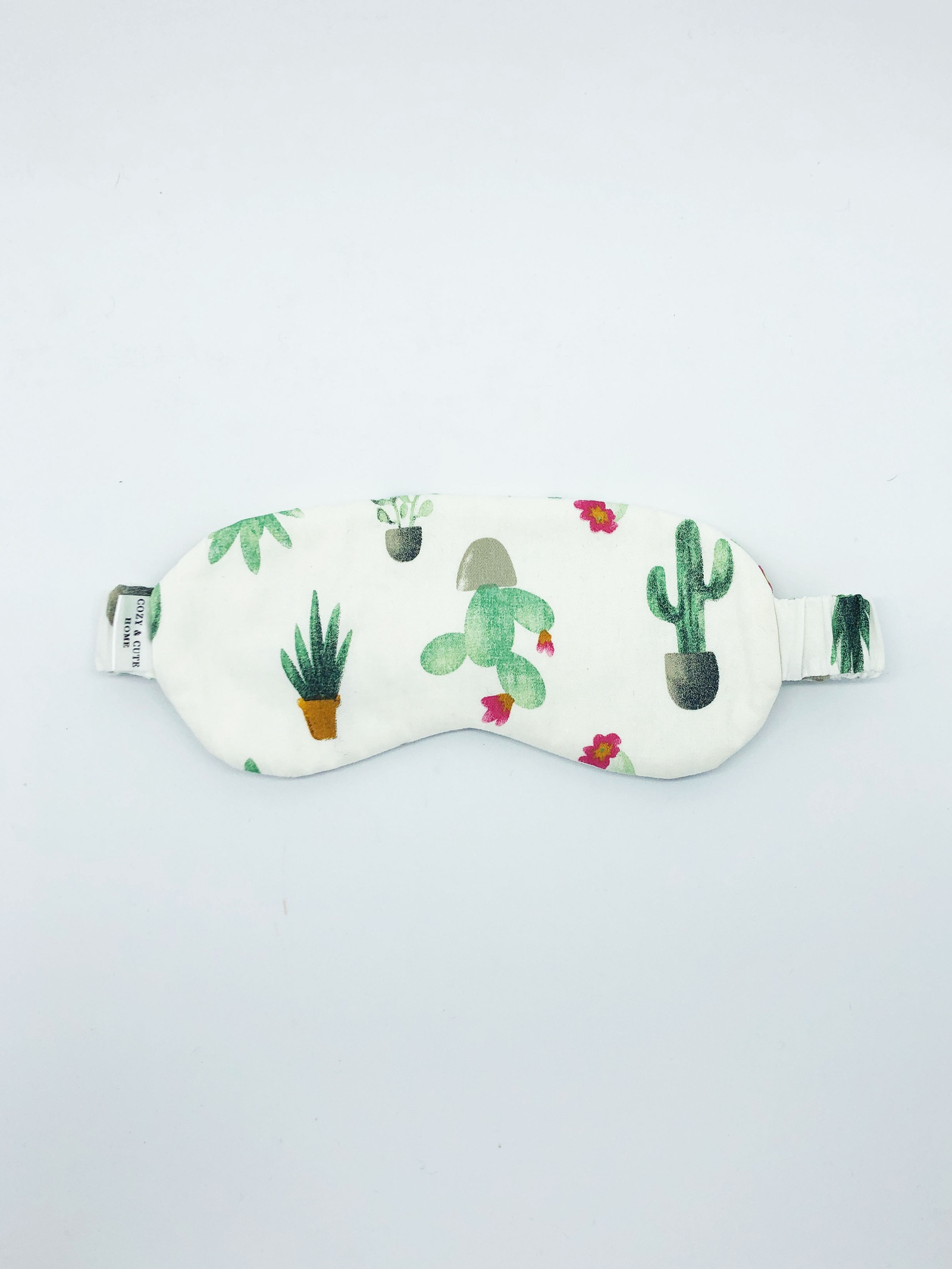 Маска для сна Cozy&Cute Home Кактусы, белый, зеленый
