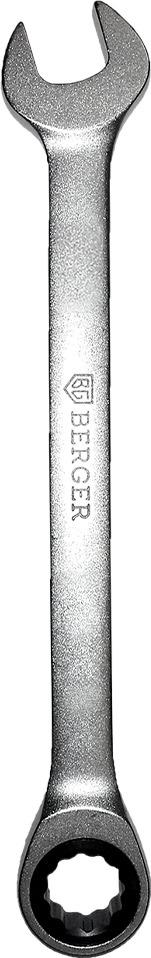 Ключ Berger трещоточный, комбинированный, 18 мм, BG1188 ключ трещоточный комбинированный berger 15 мм bg1102