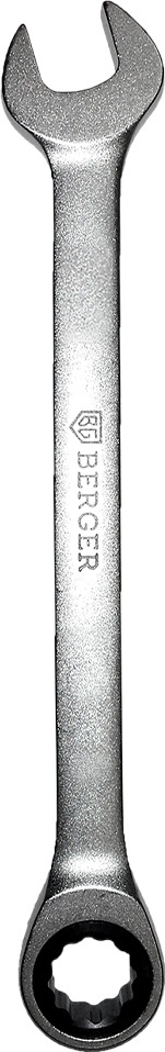 Ключ Berger трещоточный, комбинированный, 22 мм, BG1189 ключ трещоточный комбинированный berger 15 мм bg1102