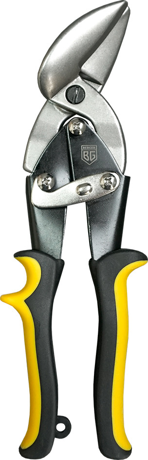 Ножницы строительные Berger ручные, рычажные, левый рез, 250 мм , BG1232 ножницы по металлу irwin левый рез 250 мм