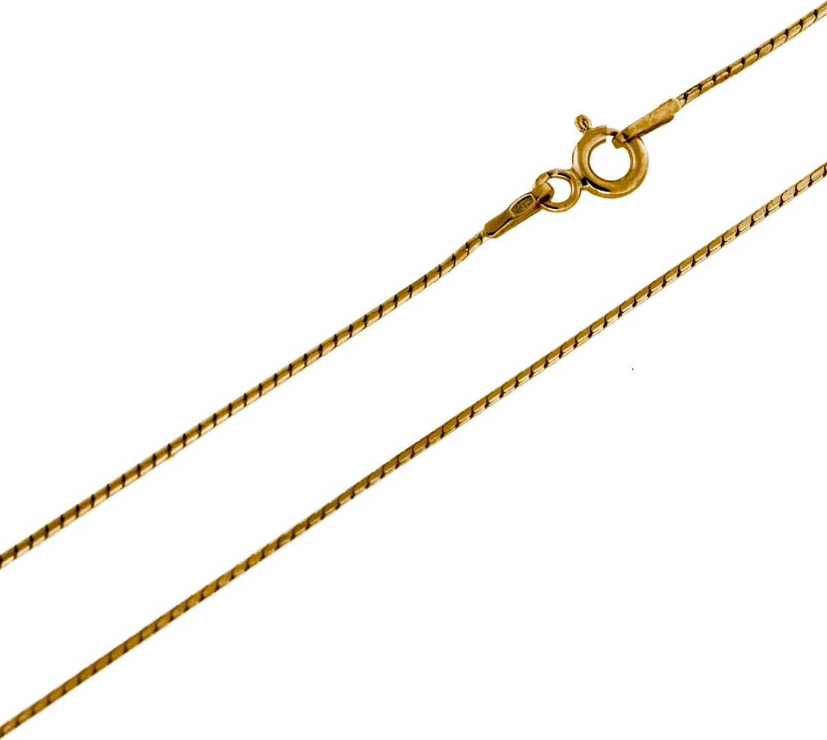 Цепочка Серебряная Венеция Шнурок (снейк) облегченный, серебро 925, 40 см, 1866Z035LСереброЦепочка Шнурок (снейк) облегченный с алмазной огранкой 8 граней (сечение проволоки 035) из серебра 925 пробы. Цепь Серебряная Венеция с двойным золочением из основного слоя золота в 24 карата (999 пробы) и верхнего (подцвечивающего) слоя золота 585 пробы. Это классическая модель, незаменимая в любой ситуации. Украшение идеально подойдет и на каждый день, и для вечернего выхода в великолепном платье. Оно обладают четкими контурами соединения элементов украшения, а Алмазная огранка по специальной технологии 8-ми граней позволяет поверхности цепочки лучше блестеть. Цепочка может носиться и как самостоятельное украшение, и в дополнение с кулоном. Серебряные цепи с двойным золочением внешне почти не отличаются от золотых, прекрасно сочетаются с золотыми украшениями, но более доступны по цене. Цепочка произведена в Италии с использованием самого передового оборудования и современных технологий, что несомненно говорит о её качестве.