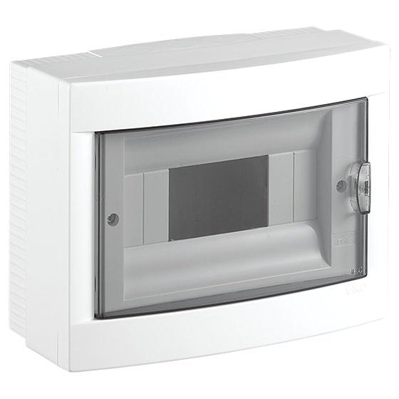 Распределительный щит VIKO на 8 автоматов навесной, белый блок viko vera 9068 2189