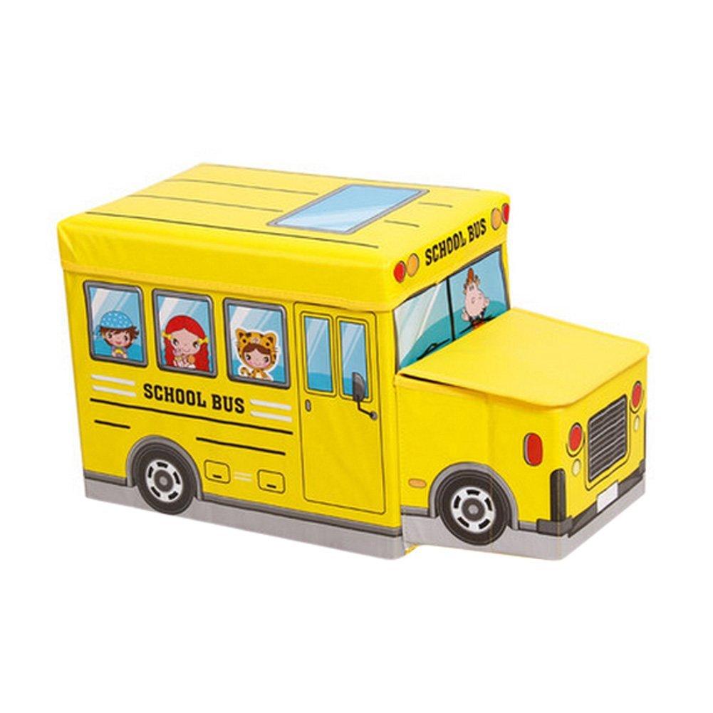 Ящик для игрушек MARKETHOT Короб для хранения игрушек, желтый