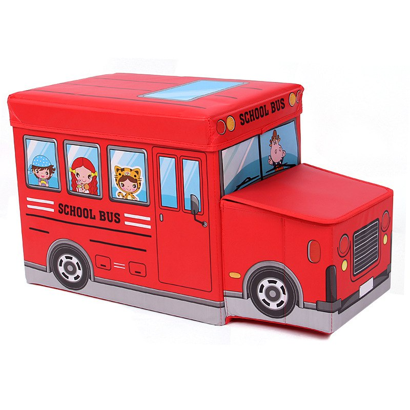 Ящик для игрушек MARKETHOT Короб для хранения игрушек, красный