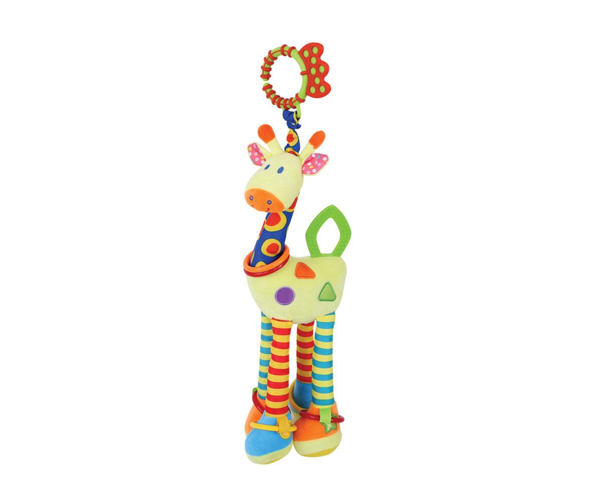 Развивающая игрушка Lorelli Toys Жираф. 10191151019115Развивающая игрушка (погремушка/прорезыватель) со звуковыми элементами (пищание, скрип).Размер 47 см.