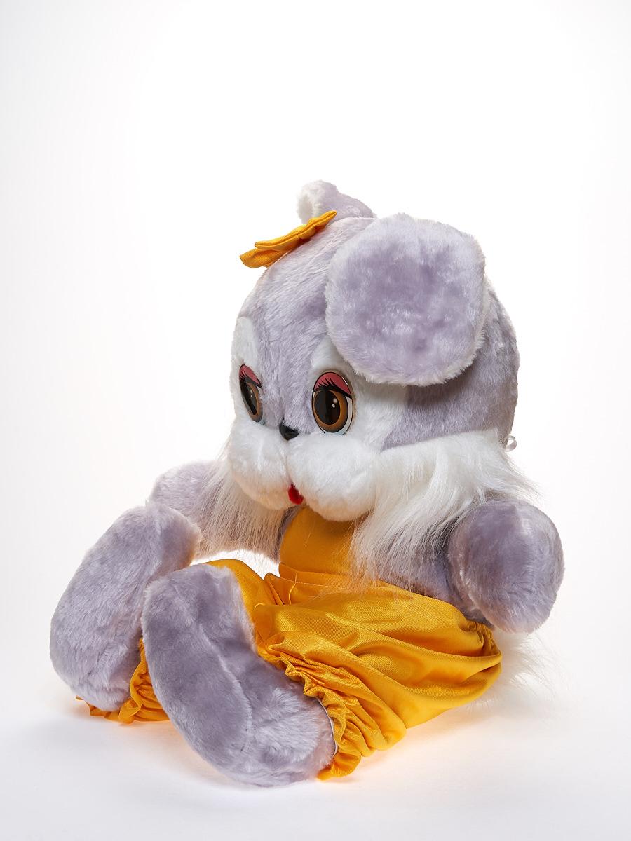Мягкая игрушка Радомир С660/заяц лили серый, желтый