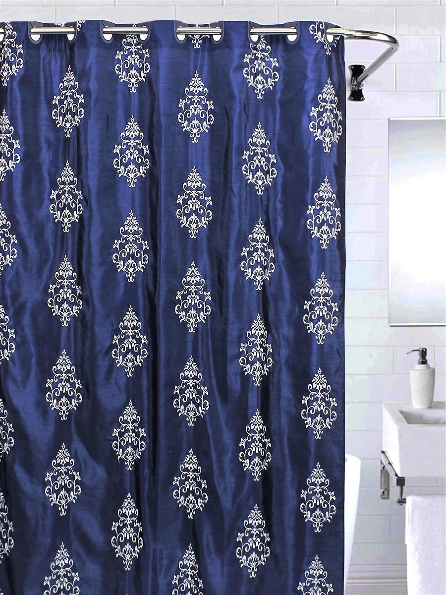 Штора для ванной BATH PLUS LC1405, темно-синий шторы томдом классические шторы хайм цвет бежевый