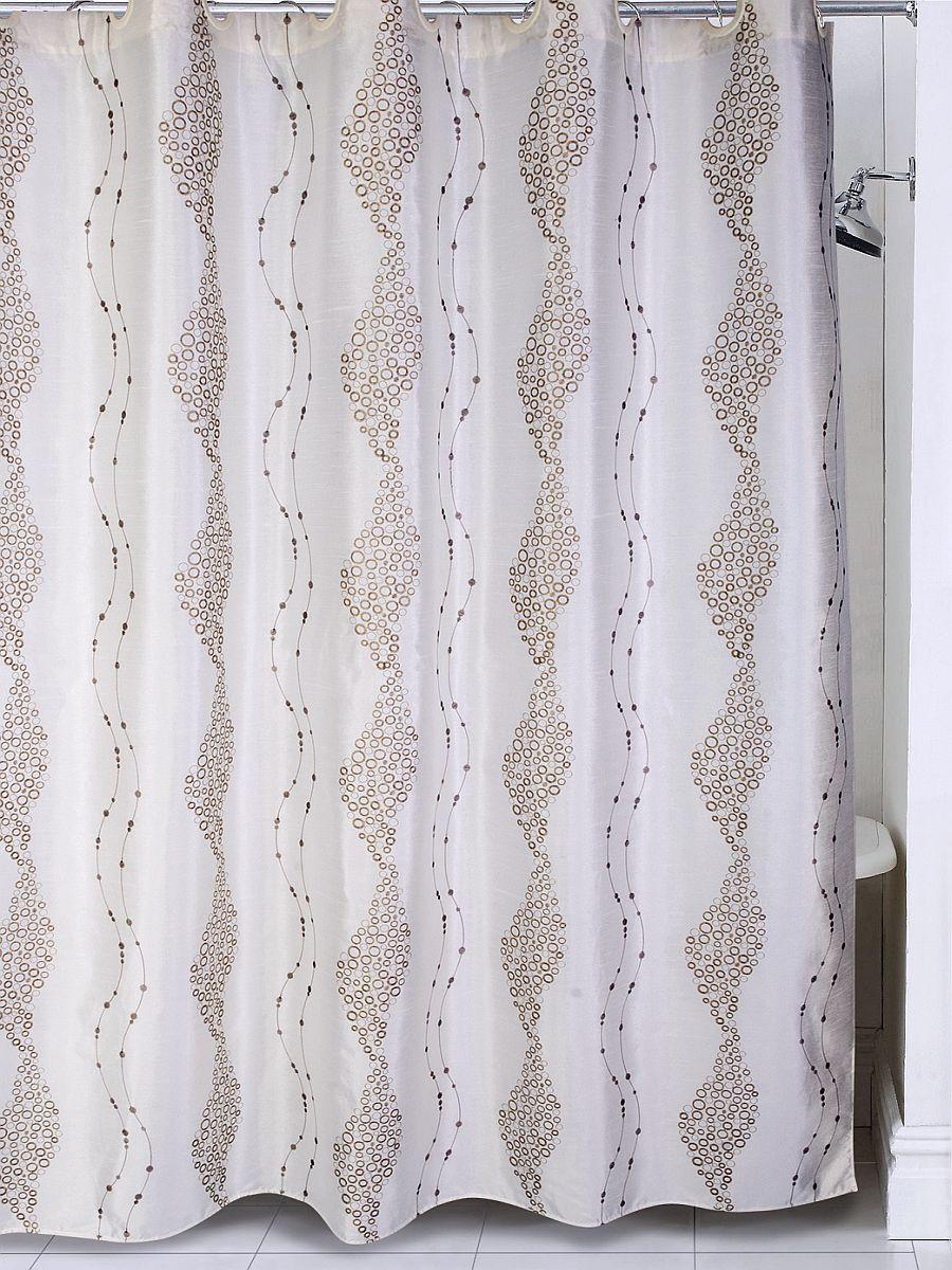 Штора для ванной BATH PLUS LC1203, слоновая кость шторы томдом классические шторы хайм цвет бежевый